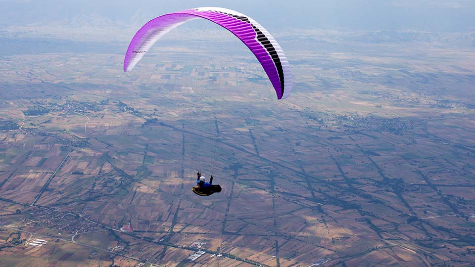 Paragliding on Macedonian sky