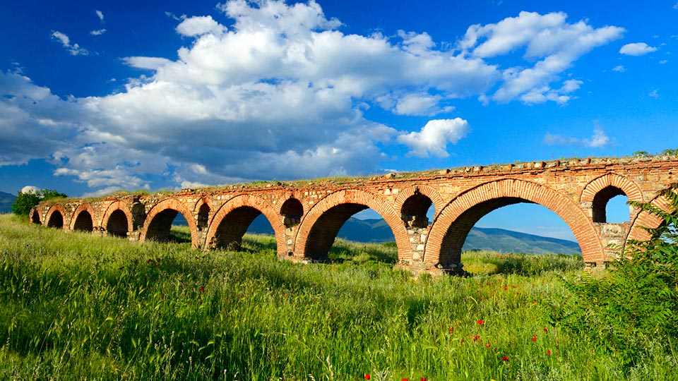 Skopje Aqueduct architectural composition